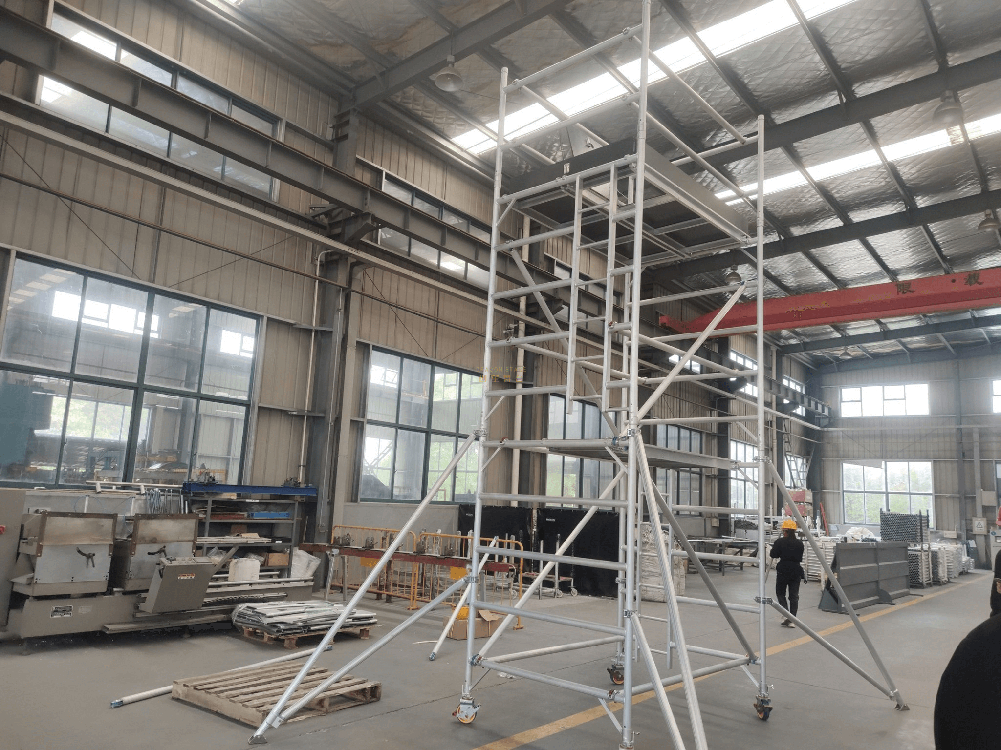 Construction Frame Double scaffolding with climbing ladder