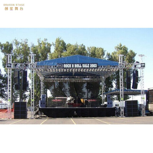 Silver Outdoor Event Truss with Roof