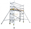 Aluminum Mobile Single Climb Ladder Scaffolding Tower 5m