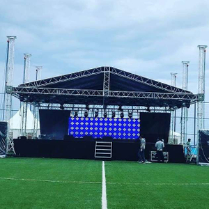 Aluminum Curved Triangle Roof Stage Truss System 6x5x6m