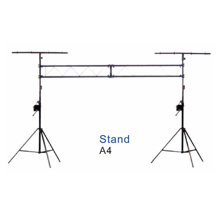 Crank Up Lighting Stands with Handy Winch And Ladder 4m