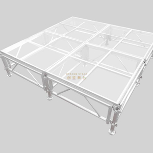 Portable Stage Acrylic Floor Acrylic Stage 7.5x7.5m Height 0.4-0.8m