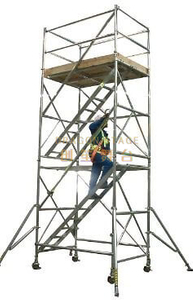 Board Tower Double scaffolding with step ladder