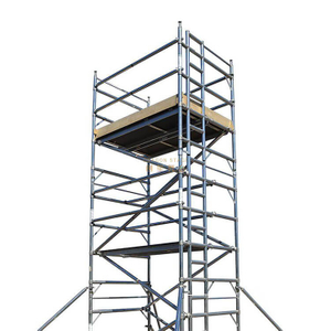 Portable Outdoor Double scaffolding with climbing ladder