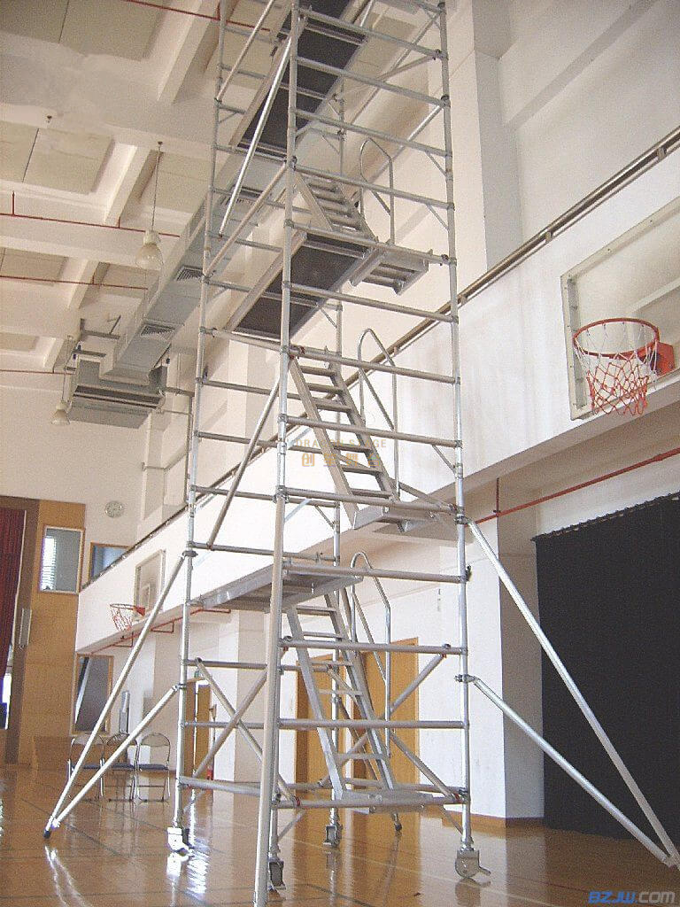 Construction Mobile Double scaffolding with 45degree ladder