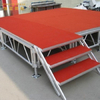Aluminum Park Lightweight Square Stage for Event 7.32x4.88m Height 0.8-1.2m